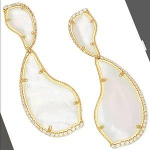NWT Kendra Scott Teddy Mother-of-Pearl Earrings